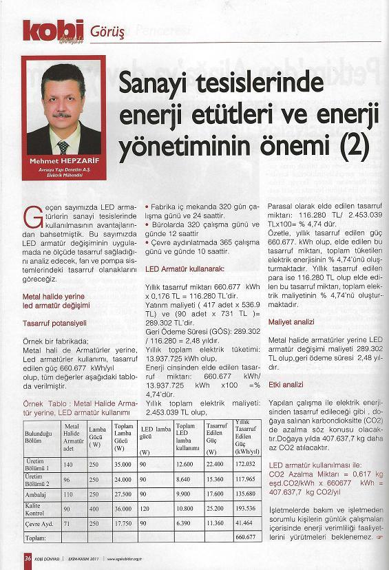 Sanayi Tesislerinde Enerji Etütleri ve Enerji Yönetiminin Önemi