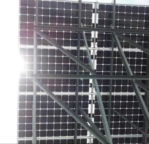 Figür 2: Çift taraflı PV modül uygulaması (Tokyo Solar Building Materials)
