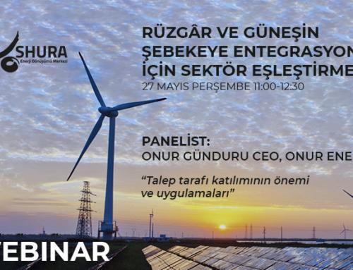 """Onur Enerji CEO'su Onur Günduru ile """"Talep tarafı katılımının önemi ve uygulamaları"""" -WEBINAR"""